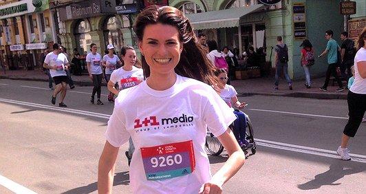 Олександра Лобода: я біжу за мрію майбутнього футболіста!