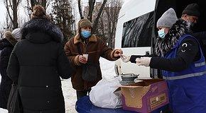 Гарячі обіди для бездомних