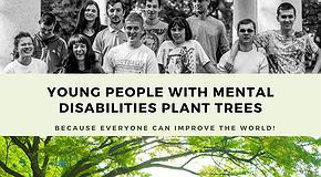 Youth with disabilities are planting trees in Lviv